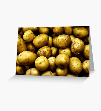 Golden Potatoes  Greeting Card