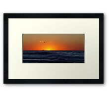 Shrimping at Sunrise Framed Print