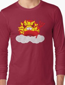 Devils Sun Darkness in Red Rainbow Long Sleeve T-Shirt
