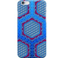 Flower of life, sacred geometry, Metatrons cube, symbol healing & balance   iPhone Case/Skin