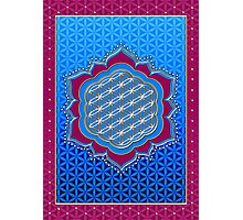 Flower of life, sacred geometry, Metatrons cube, symbol healing & balance   Photographic Print