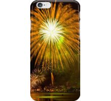 Single Sunflower Supernova - Sydney Harbour - New Years Eve - Midnight Fireworks  iPhone Case/Skin