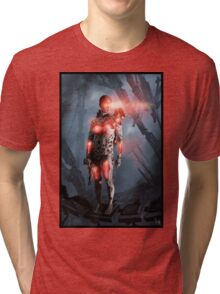Cyberpunk Painting 052 Tri-blend T-Shirt