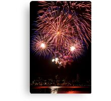OMG LOOK! - Sydney Harbour - New Years Eve - Midnight Fireworks Canvas Print