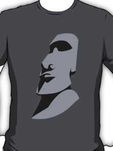 Easter island creepy large faced rock T-Shirt