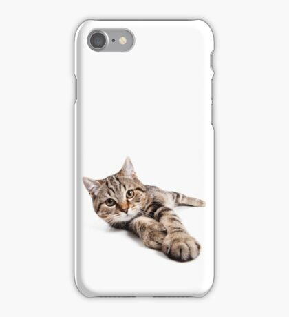 tabby cat with big paws iPhone Case/Skin