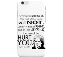 Tyrion Lannister Quote iPhone Case/Skin