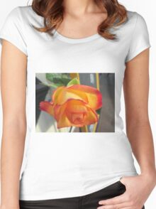 Flower in november Women's Fitted Scoop T-Shirt