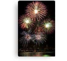 High Five - Sydney Harbour - New Years Eve - Midnight Fireworks  Canvas Print