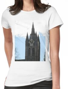 Church tower Womens Fitted T-Shirt