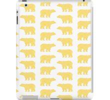 Gold Bears - foil glitter sparkle gold pattern print bear golf golfing nature trendy hipster sports iPad Case/Skin