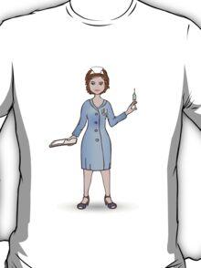 illustration of a smiling nurse T-Shirt