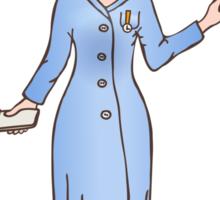 illustration of a smiling nurse Sticker