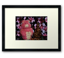 Pink Pig is so Zen Framed Print