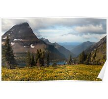 Bearhat Mountain and Hidden Lake - Glacier National Park Poster