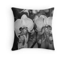 Orchids Throw Pillow