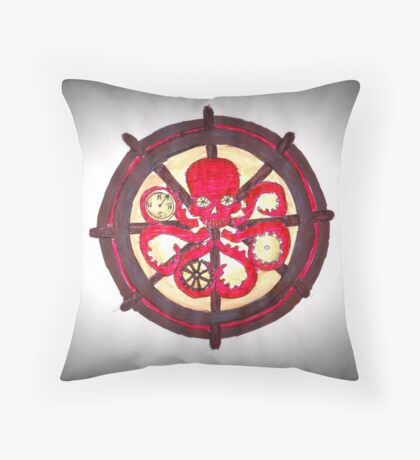 Hail Hydra Logo Throw Pillow