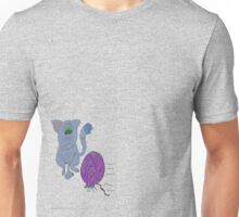 Along came a spider...with a ball of yarn Unisex T-Shirt