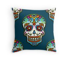 Mexican Sugar Skull, Day of the Dead, Dias de los muertos Throw Pillow