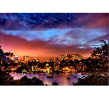 Sydney Harbour - Before New Year's Eve Fireworks Photographic Print