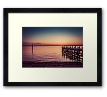 When The Boats Come Home Framed Print