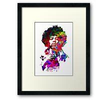 Jimi Hendrix - Psychedelic Framed Print