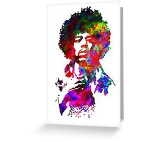 Jimi Hendrix - Psychedelic Greeting Card
