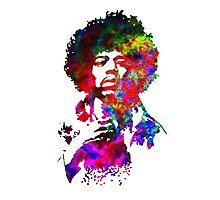 Jimi Hendrix - Psychedelic Photographic Print