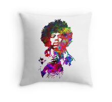 Jimi Hendrix - Psychedelic Throw Pillow