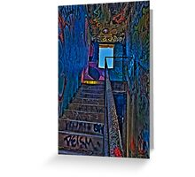 Stairwell in The Centre of Graffiti - SYDNEY Greeting Card