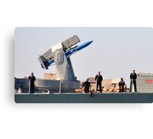 H.M.A.S. NEWCASTLE - NEWCASTLE HARBOUR NSW Canvas Print