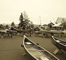 Wooden Canoe Festival - Grand Marais, MN by Mark Odland