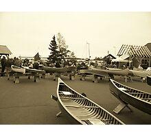 Wooden Canoe Festival - Grand Marais, MN Photographic Print