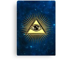 Eye Of Providence - All Seeing Eye Of God - Symbol Omniscience Canvas Print