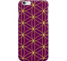 Flower of life - Gold, healing & energizing iPhone Case/Skin