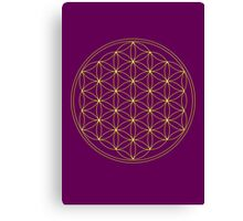 Flower of life - Gold, healing & energizing Canvas Print