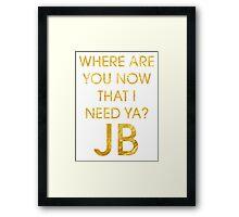 Where Are Ü Now - Justin Bieber Framed Print