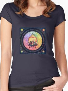 """The Drop of Golden Rain"" - Mandala of Wealth Women's Fitted Scoop T-Shirt"