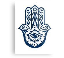 Hamsa - Hand of Fatima, protection amulet, symbol of strength and happiness Metal Print