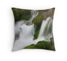 MOSSY ROCKS AND CASCADES Throw Pillow
