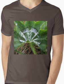 Water drop in the green Mens V-Neck T-Shirt