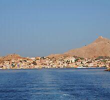 Halki island coastline, Greece by David Fowler