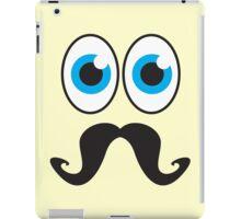 Senior MUSTACHE man with blue eyes iPad Case/Skin