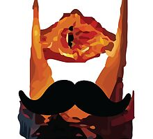 Sauron Mustache LOTR by bringmetheninja