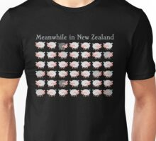 Meanwhile in NEW ZEALAND funny sheep Unisex T-Shirt