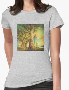 An Encounter at the Edge of the Forest Womens Fitted T-Shirt