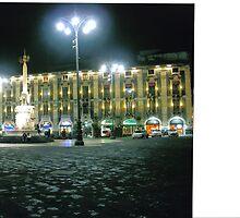 Piazza Duomo at Night. Catania, Sicily, Italy by Igor Pozdnyakov