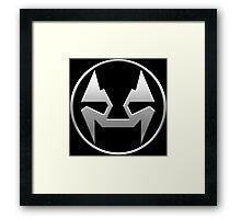 Rubbernorc NOGL Emblem - Silver Framed Print