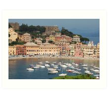 Sestry Levante in Italy Art Print
