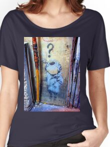Banksy's Lil Diver Melbourne T-shirt Women's Relaxed Fit T-Shirt
